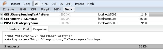Using JQuery Ajax API to Send Plain Text to Server Side Method